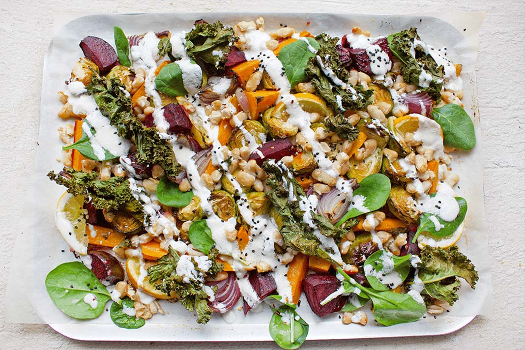 One Pan Recipe: Fibre-Filled Roast Veggies With Goats Cheese