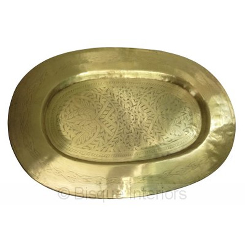 Bisque Interiors Brass Platter