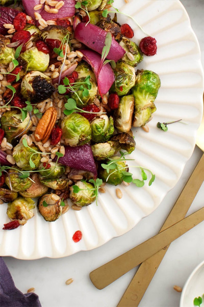 Thanksgiving sides, MAPLE-BALSAMIC ROASTED BRUSSELS SPROUTS