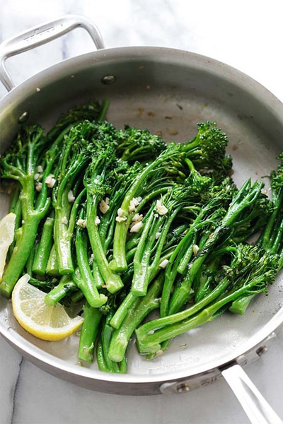 thanksgiving sides, Garlic Butter Sauteed Broccolini