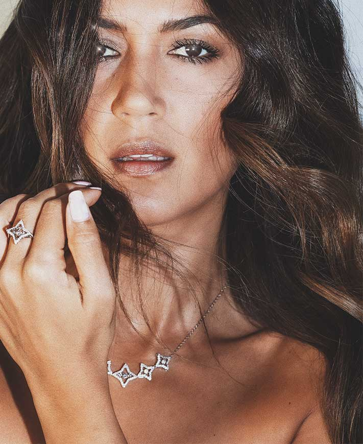 039dd8dd7e68bc Bianca Cheah with Swarovski Sparkling Dance Star Crystal necklace