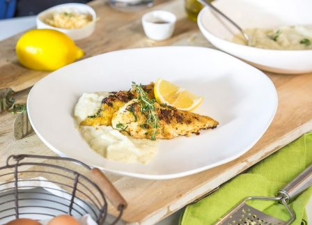 This Chicken Schnitzel And Cauliflower Mash Is A Healthy Alternative To A Pub Meal