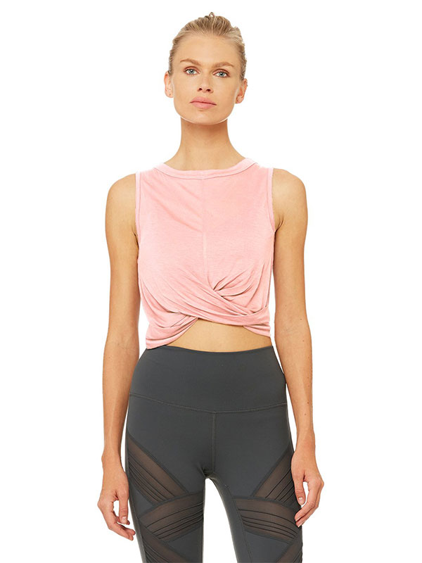 c81fbe3c67e With draping Jersey fabric, this powder pink tank is just as soft as it is  stunning.