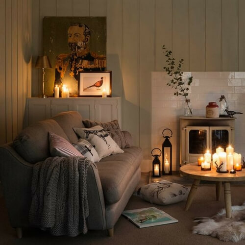 Image result for hygge room with candles
