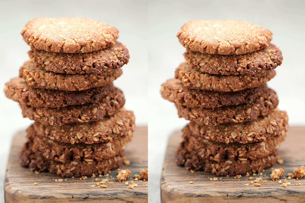 Here's How To Make Deliciously Chewy ANZAC Biscuits Minus The Sugar Crash