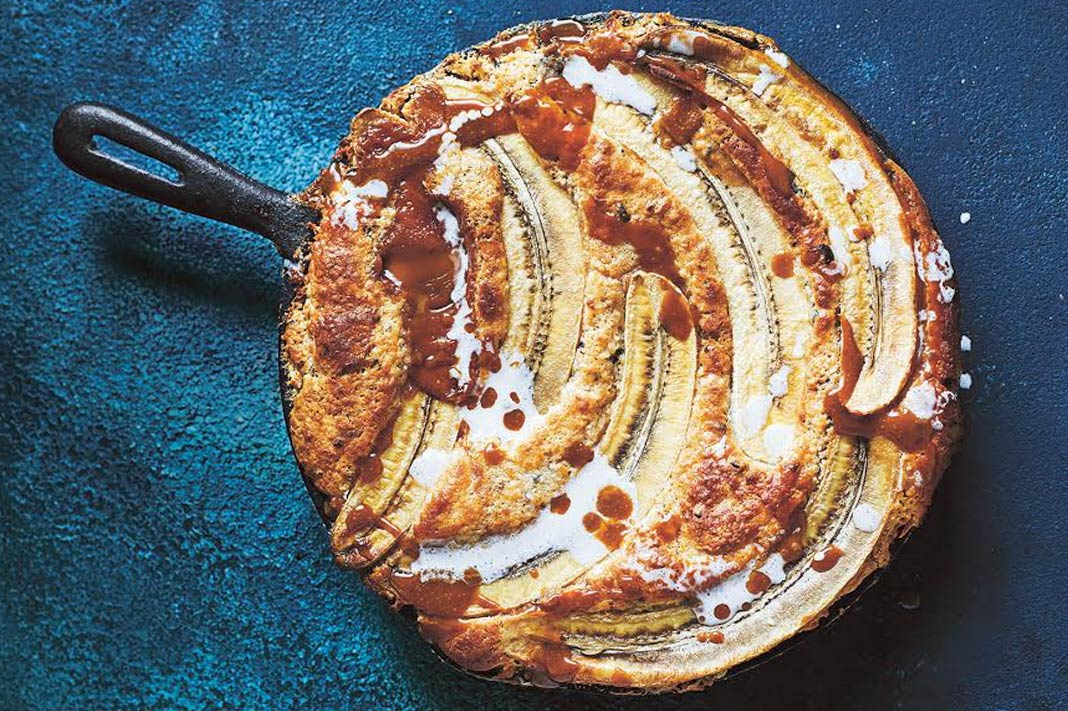 Donna Hay's Coconut, Caramel & Banana Cobbler Will Wow At Your Next Dinner Party