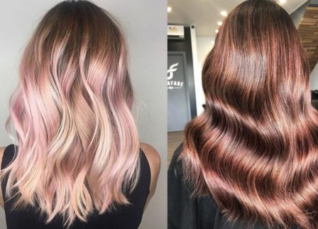 Rose Gold Is The New Metallic Hair Trend That Suits Both Blondes & Brunettes