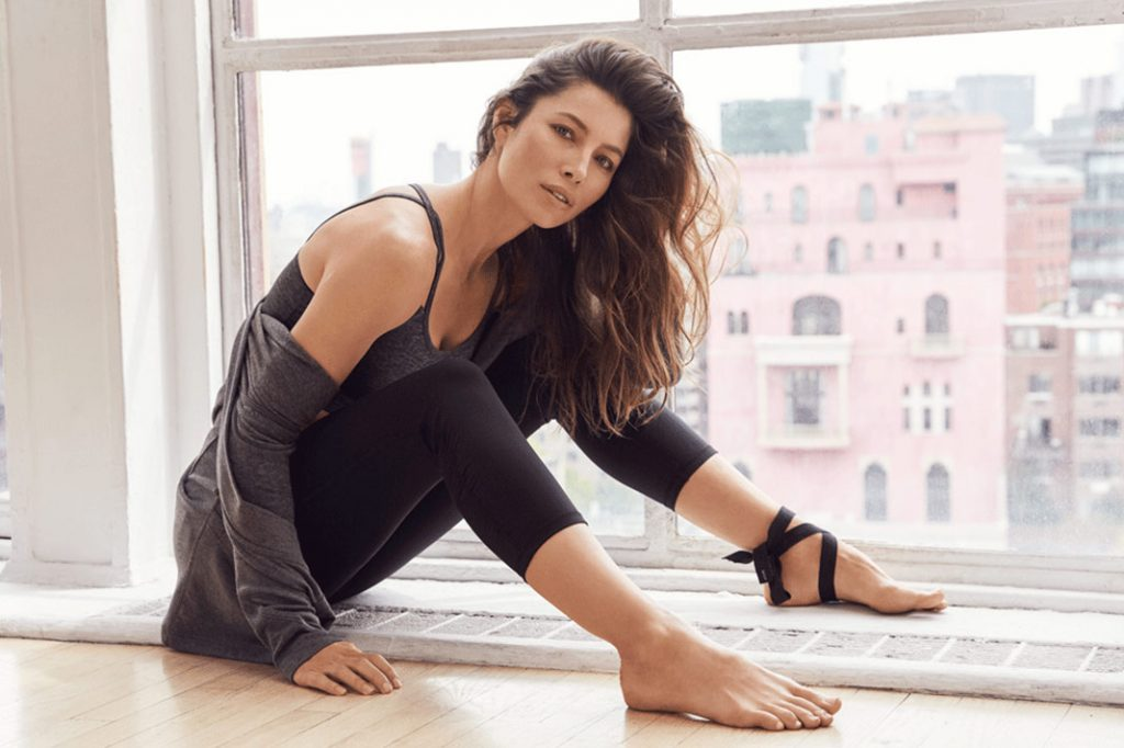 Jessica Biel Launches Exclusive Yoga Apparel Collection With Gaiam