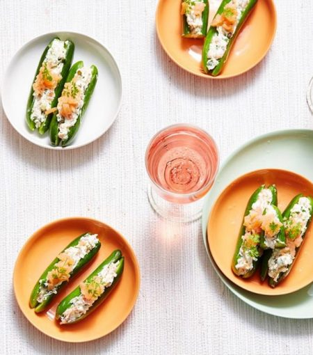 Try This Low-Carb, High Protein Snack Made With Smoked Salmon & Baby Cucumbers