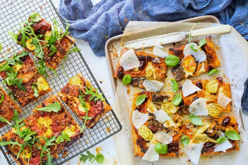 EXCLUSIVE: Try Leah Itsines' Mediterranean Puff Pizzas, Straight From Her New E-Book