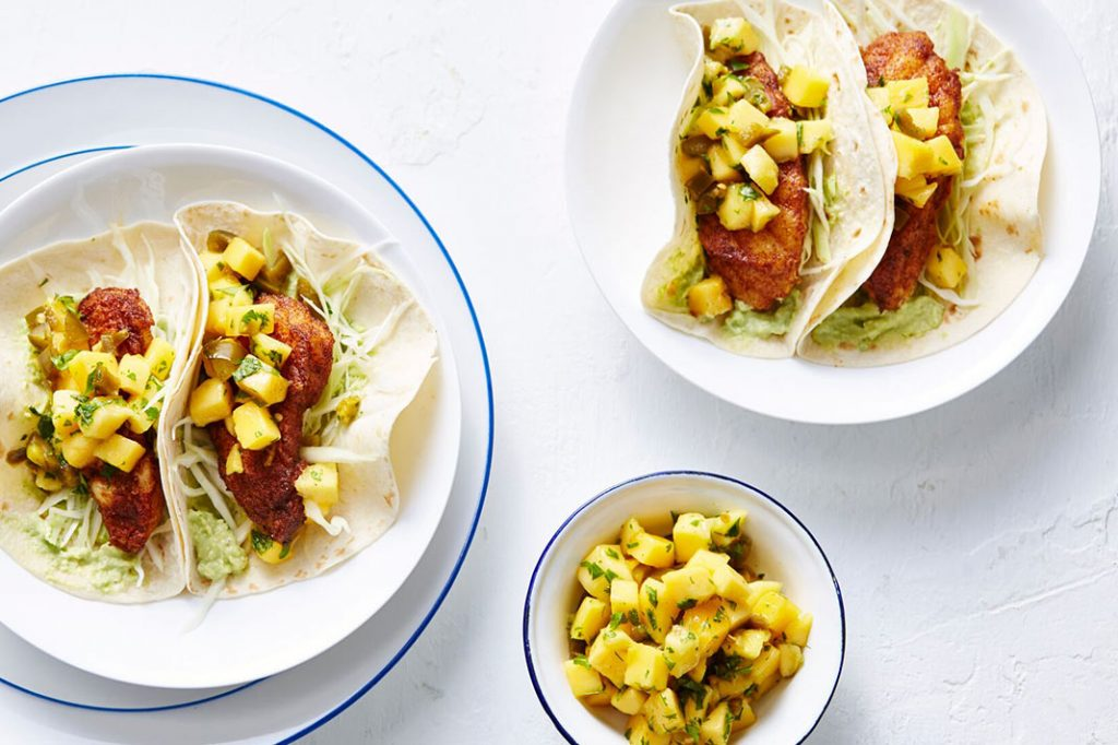 Make These Fish Tacos With Mango & Jalapeno Salsa This Taco Tuesday