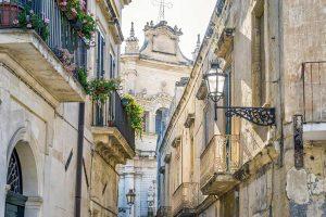 town of lecce puglia italy