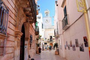 old streets in locorotondo italy