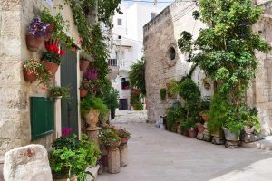 old streets of monopoli puglia italy