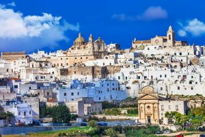 town of ostuni puglia south italy