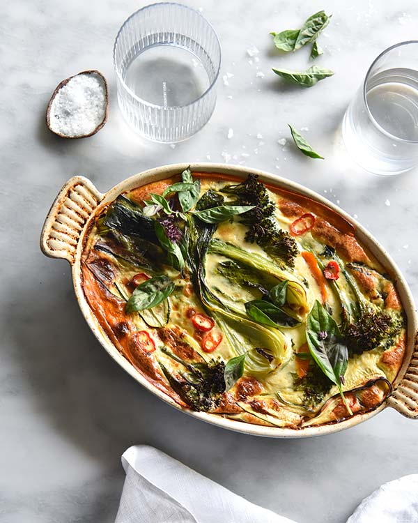 Green Thai Frittata Is FODMAP-Friendly & Dairy-Free