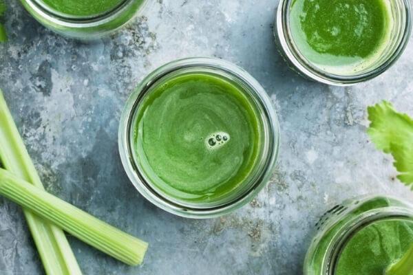 Healthy eating celery juice