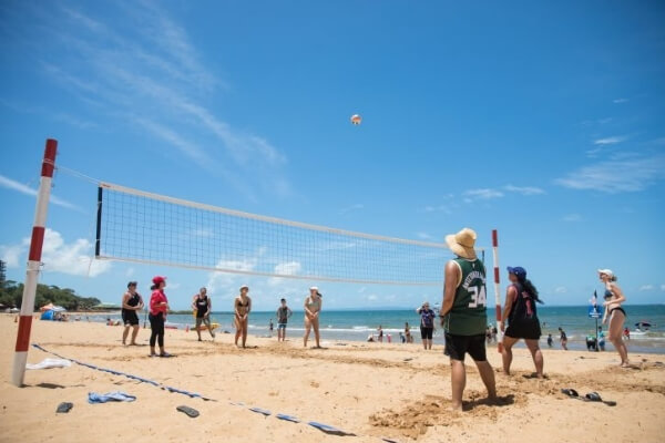 Australia Day beach volleyball match