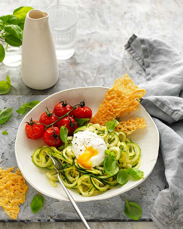 Mediterranean-Inspired, Keto-Friendly Egg Zoodle Recipe