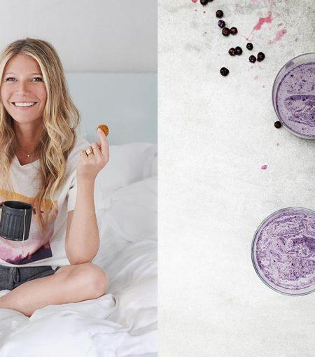 Try Gwyneth Paltrow's Gut-Loving Blueberry Cauliflower Smoothie Recipe