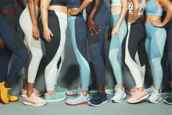Healthy eating and exercising women