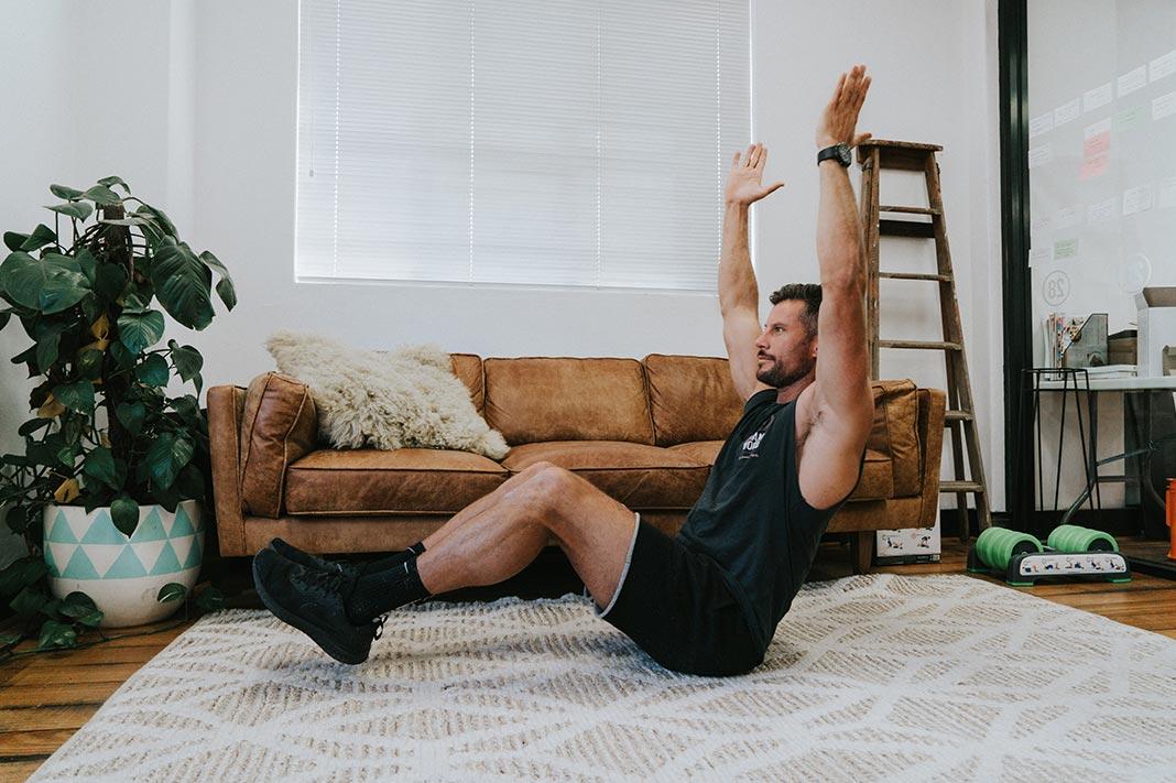 sam wood short workouts v sit up