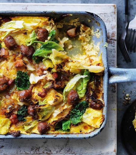 Try This Keto-Friendly Sausage & Cabbage Bake Recipe
