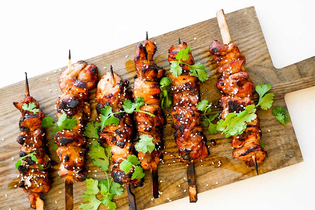 Immune-Boosting Recipe: Honey Soy Chicken Skewers With Ginger & Garlic