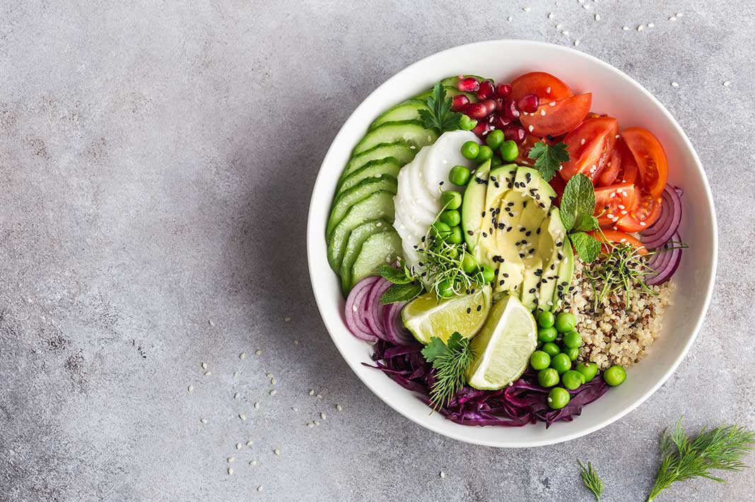 five signs your vegan diet isn't working for you, bowl of vegan food, plant-based diet