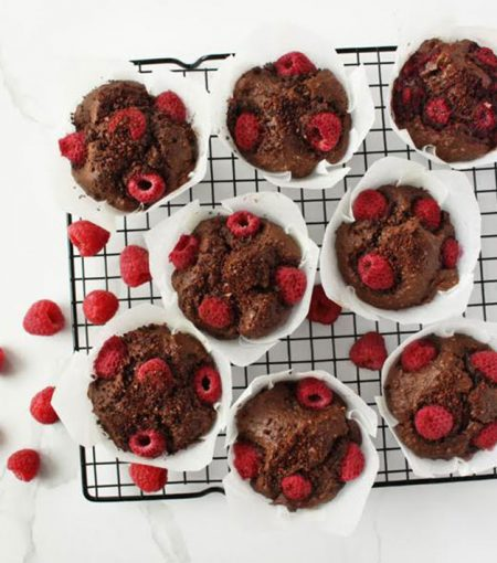 Healthy Recipe: Antioxidant-Rich Chocolate & Raspberry Muffins