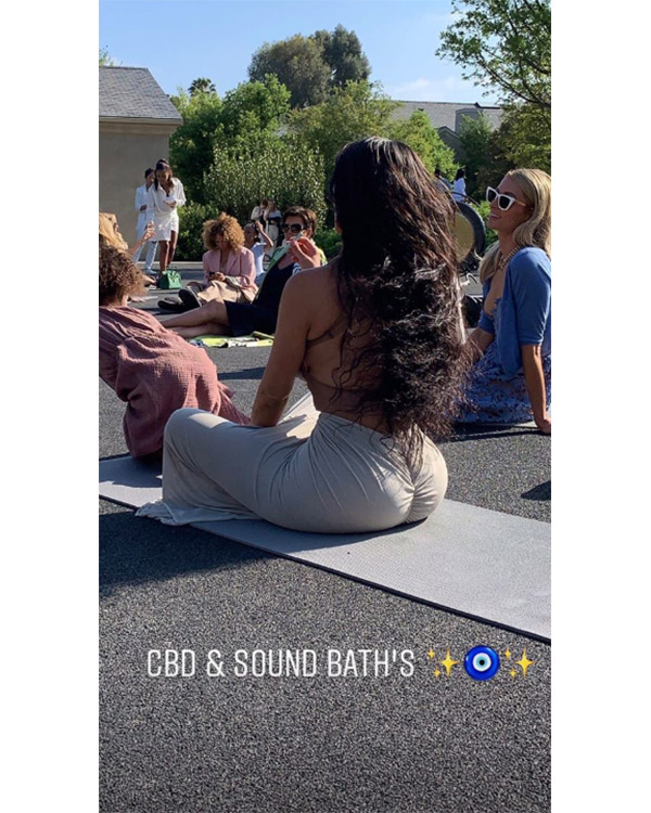 kim kardashian sound bath cbd