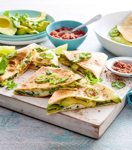 Make These Mexican-Inspired Spicy Avocado, Egg & 3-Cheese Quesadillas