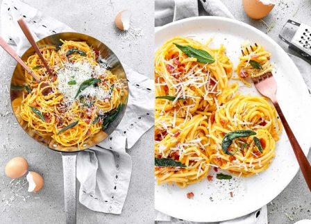 Recipe: Make This Creamy Pumpkin Carbonara With Pancetta & Crispy Sage Tonight