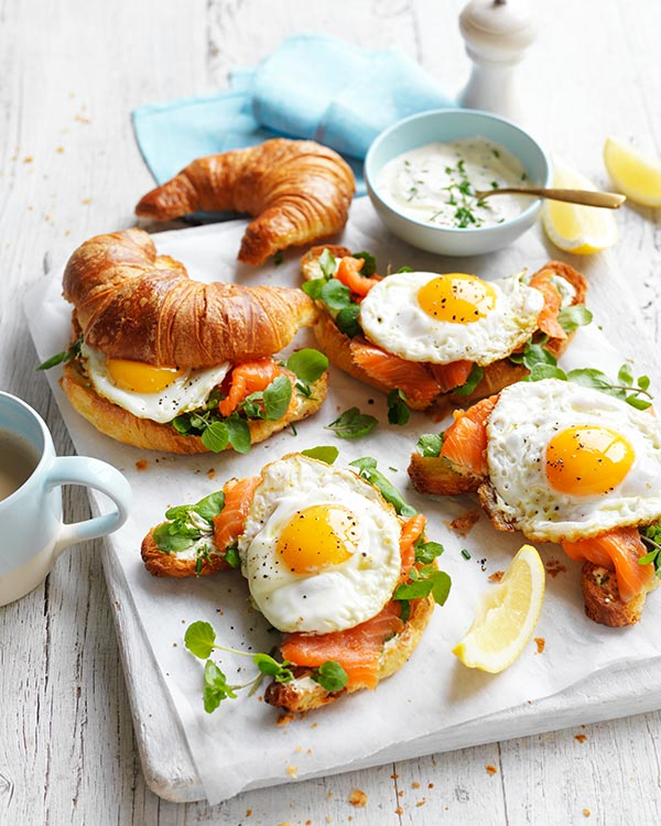 Egg & Smoked Trout Croissants