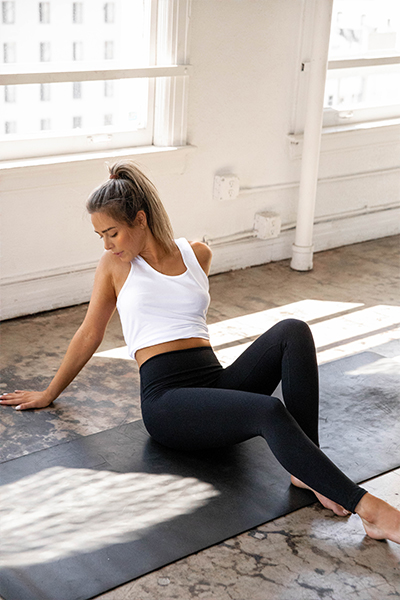 Sporteluxe activewear black leggings