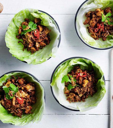 Tweak This Sticky Mushroom & Pork San Choy Bao Recipe For Meatless Monday