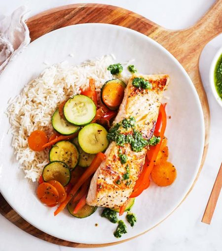 The Chimmichurri And Grilled Salmon Recipe Sure To Spice Up Your Standard Go-To