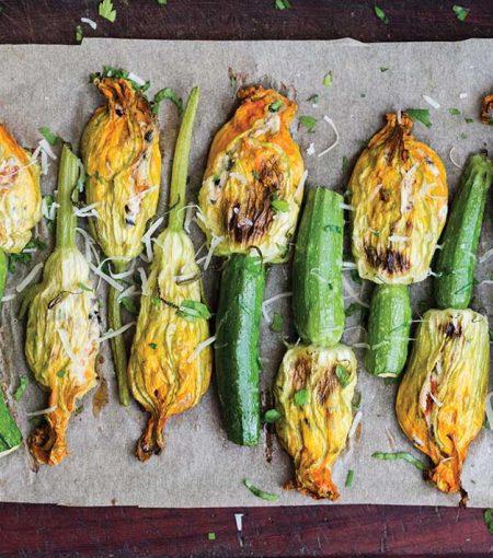 This Stuffed Zucchini Flower Recipe Is Mediterranean Diet Approved
