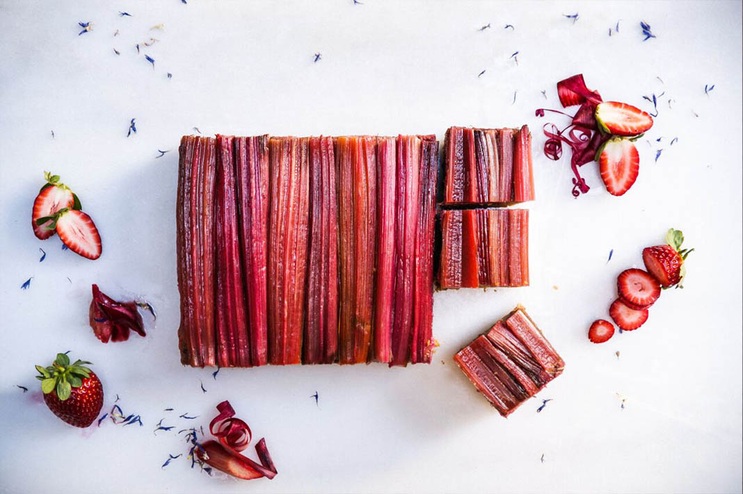 How To Make A Delicious Rhubarb Plum Slice Dessert