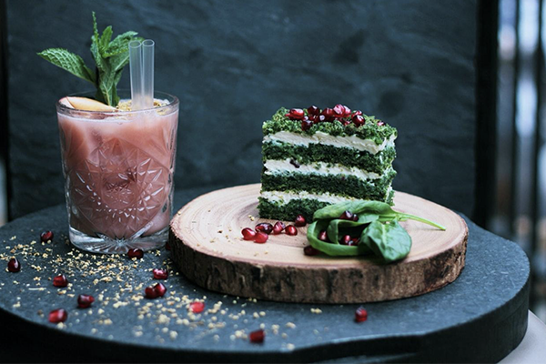 vegan recipes, green cheesecake