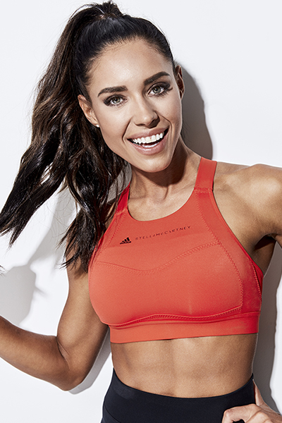 kelsey wells interview, woman in workout gear