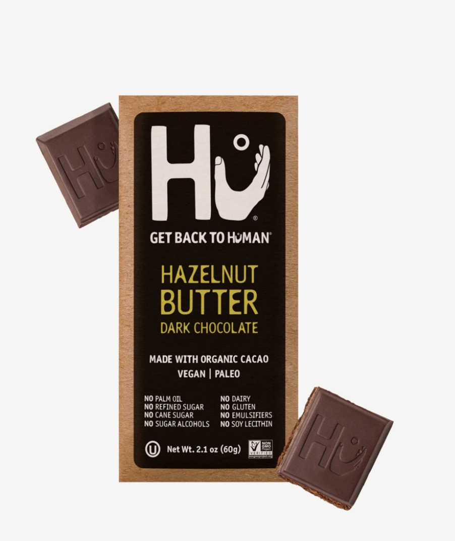 best vegan chocolates, hazeulnut dark chocolate bar