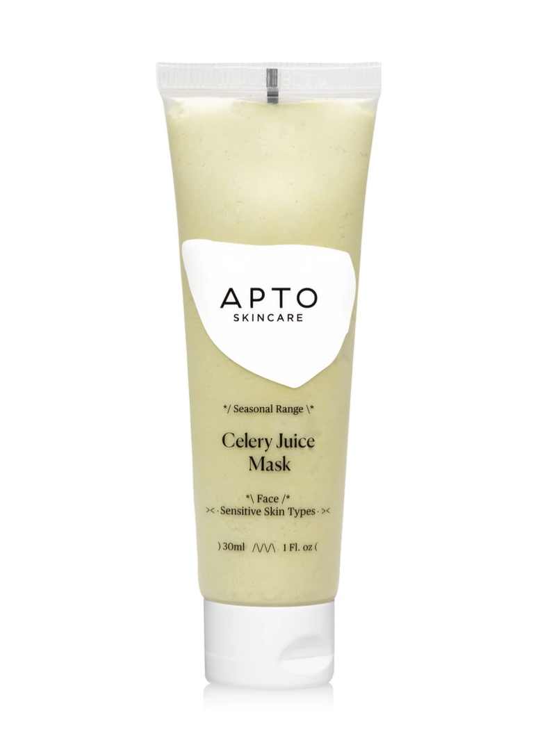 best celery juice skincare products, apto