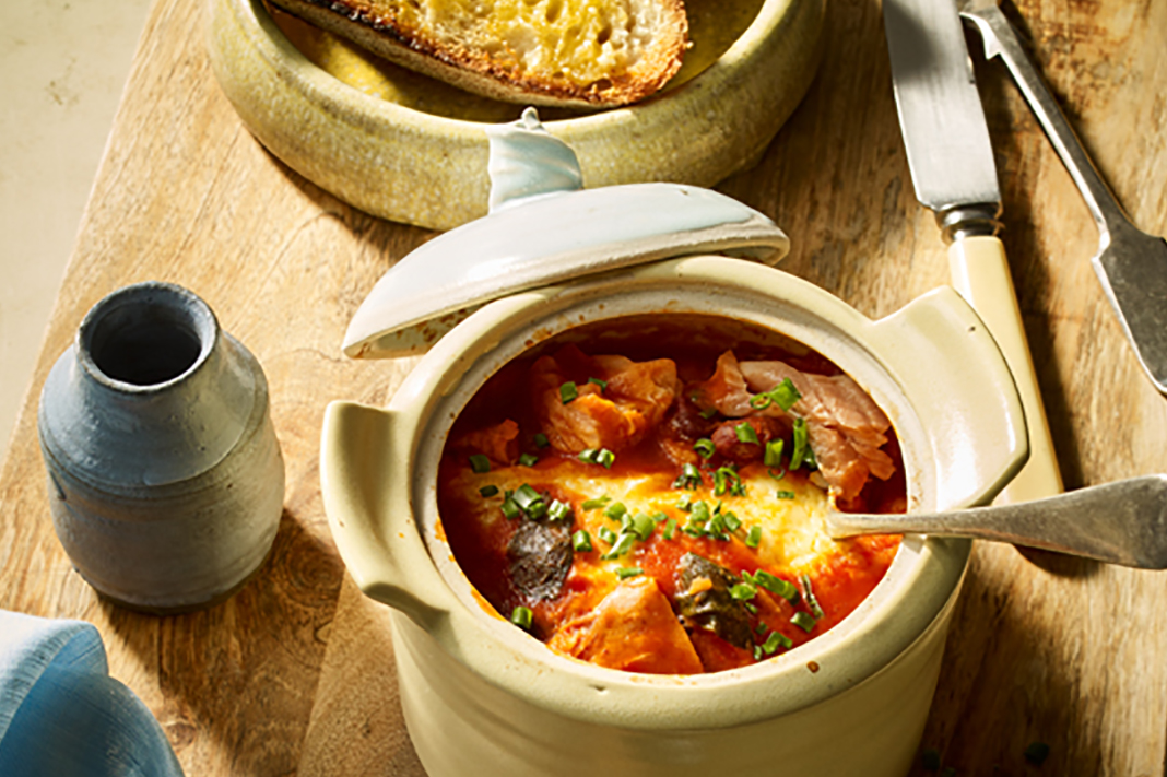 Recipe: Healthy Spanish Eggs With Hot Smoked Salmon And Chorizo
