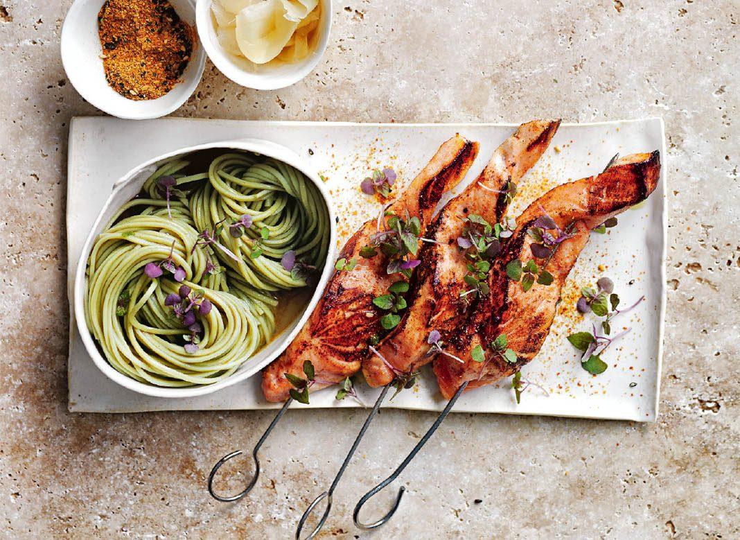 Antioxidant Recipe: Donna Hay Seared Salmon and green tea noodles Recipe